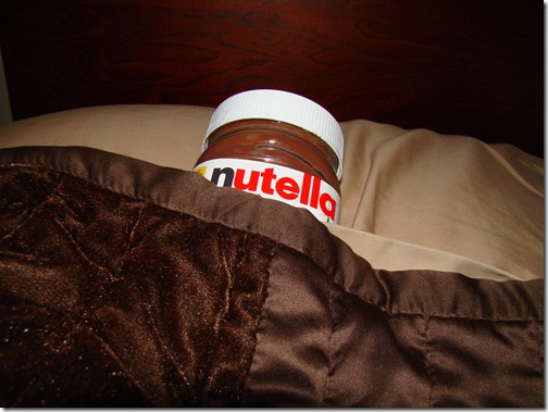 Put the Nutella to bed