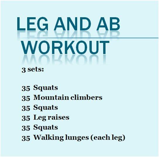 No Equipment Leg and Ab Workout | Eat:Watch:Run