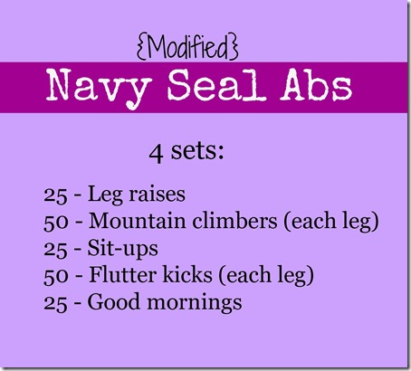 Modified Navy Seal Abs
